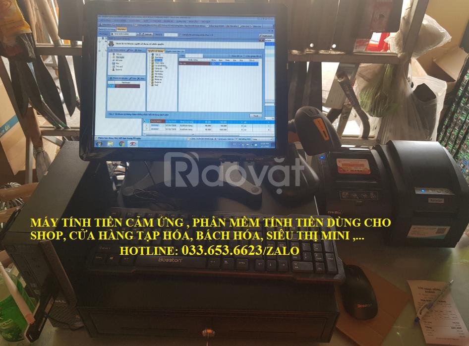 Bán máy tính tiền chocửa hàngtạp hóa tại TpHCM (ảnh 1)