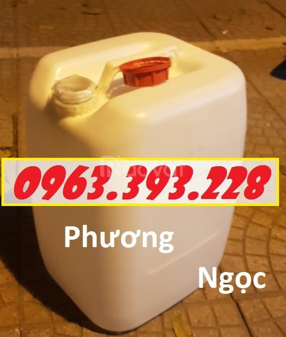 Can nhựa đựng hóa chất 30 Lít, can nhựa có nắp garenty