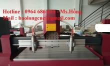 Máy cắt cnc 2 đầu, máy đục gỗ 2 đầu nhập khẩu nguyên chiếc