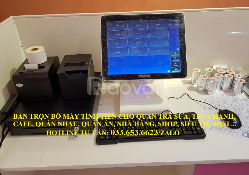 Trọn bộ máy tính tiền cho quán kem, trà chanh tại TpHCM
