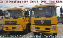 Bán trả góp xe tải DongFeng B180 tải 9150kg thùng dài 7m7