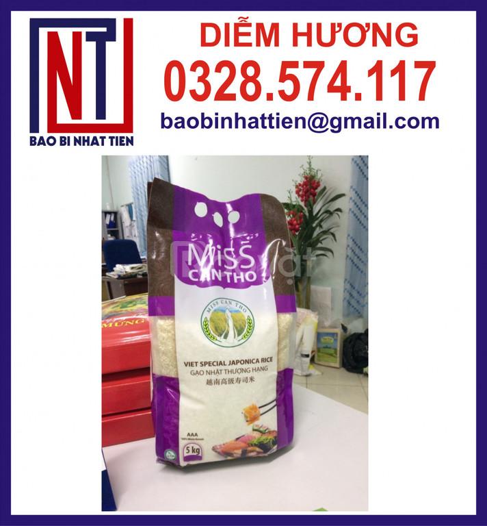 Túi PA/PE đựng gạo 5kg có quai