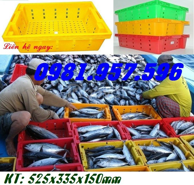 Sóng nhựa cá, sọt nhựa trưng bày rau củ, sọt nhựa cao 15cm (ảnh 1)
