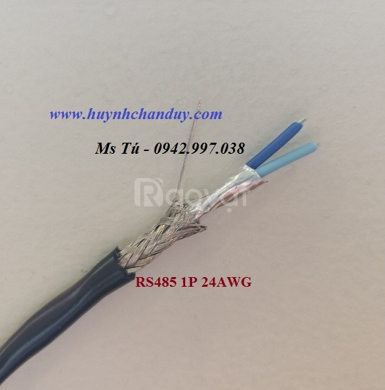 Cáp RS485 24AWG Hosiwell xuất xứ Thái Lan, vặn xoắn đôi chống nhiễu