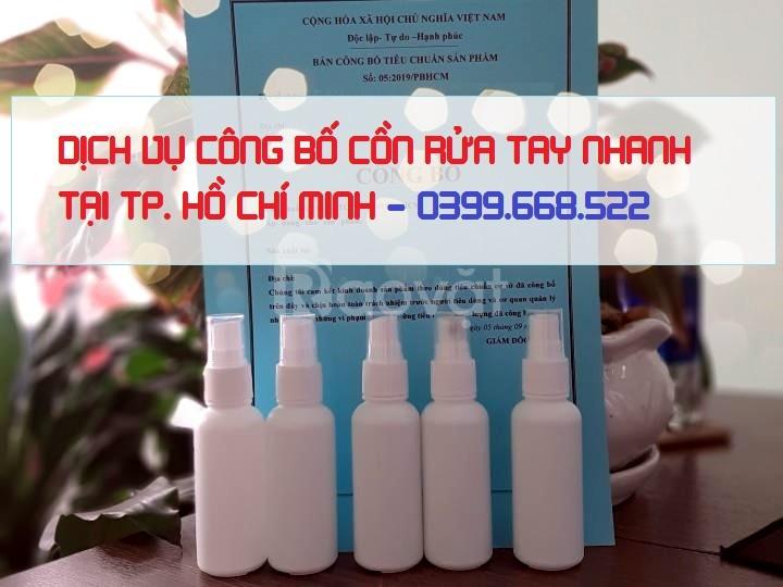 Dịch vụ Công bố chất lượng cồn rửa tay nhanh tại Tp.HCM