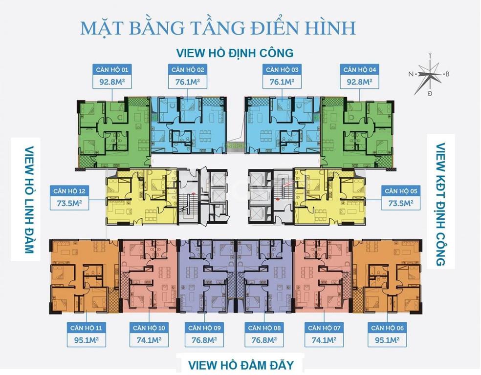 Chung cư Định công, ở ngay, cách bệnh viện Định Công 2km, 3 ngủ 1.8 tỷ