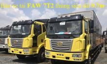 Bán xe tải Faw 7t25 tải 8 tấn thùng dài 9m8 giá ưu đãi nhất Bình Dương