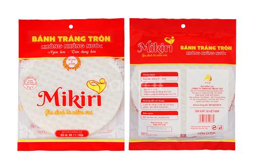 Quy cách đóng gói bánh tráng không nhúng nước Mikiri