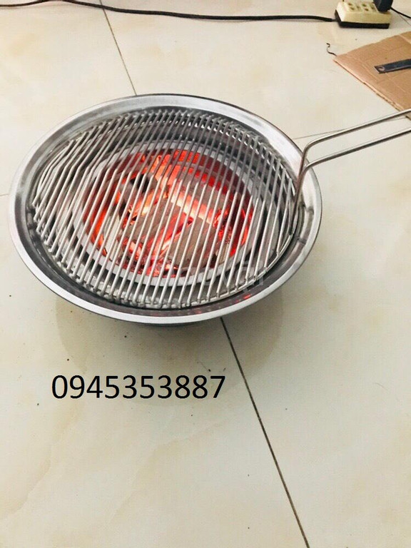 Bếp nướng than hoa âm bàn chất liệu inox cao cấp cho quán nướng (ảnh 1)