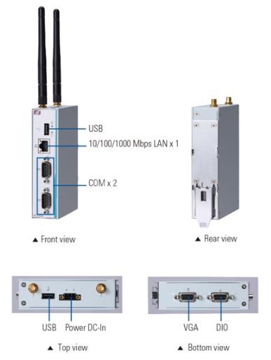 Máy tính công nghiệp không quạt dạng DIN Axiomtek ICO100-839