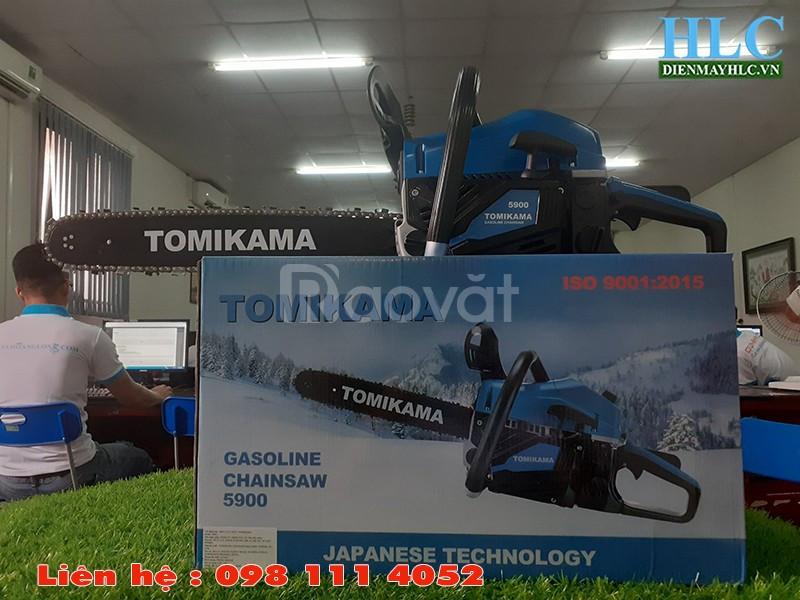 Máy cưa gỗ cầm tay chạy xăng Tomikama 5900 công suất 1,9kw (ảnh 3)