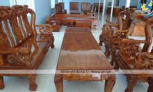 Salon gỗ hương tay 12 bền đẹp