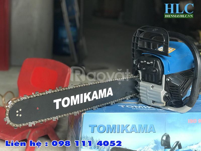Máy cưa gỗ cầm tay chạy xăng Tomikama 5900 công suất 1,9kw (ảnh 1)