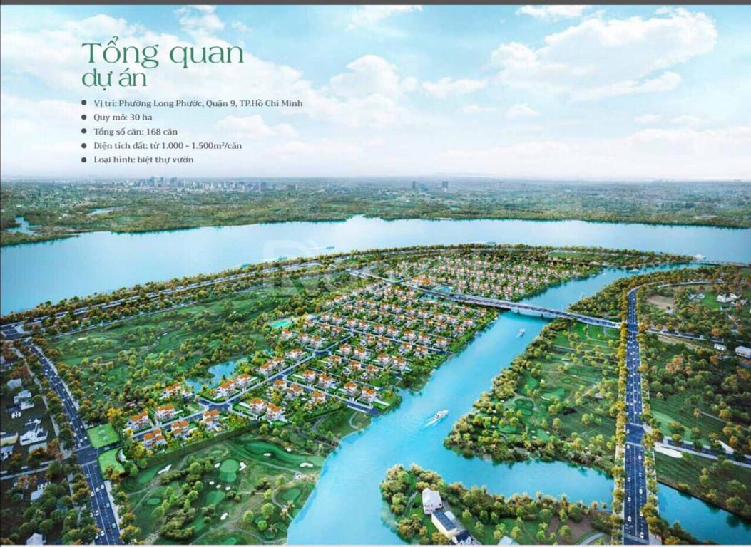 Khu biệt thự ven sông Sài Gòn Garden Riverside Village Q9, 21tr/m2, chiết khấu 10%