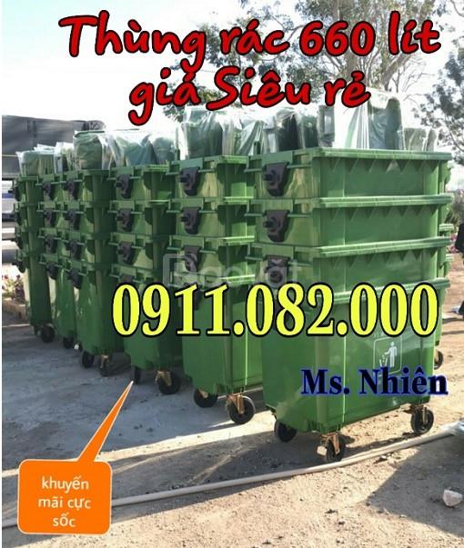 Nơi bỏ sỉ thùng rác 120L 240L 660L giá rẻ- Thùng rác y tế, thùng rác