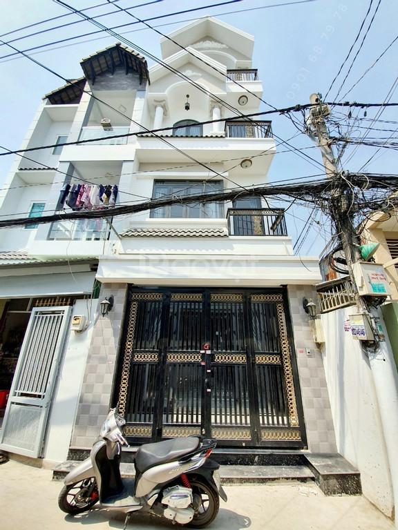 Nhà mới mặt tiền hẻm xe hơi Huỳnh Tấn Phát, tt.Nhà Bè.