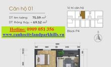 Cho thuê căn hộ Cityland Park Hills Gò Vấp loại 2 phòng ngủ
