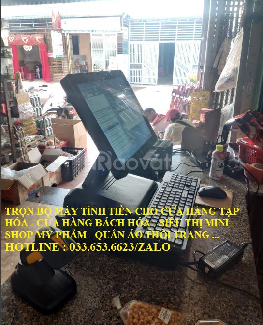 Bán máy tính tiền chocửa hàngtạp hóa tại Long An