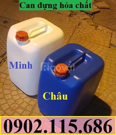 Can đựng hóa chất, can nhựa HDPE, can có nắp seal chống tràn
