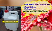 Can nhựa HDPE 5l, can nhựa hóa chất nhỏ, can 5l