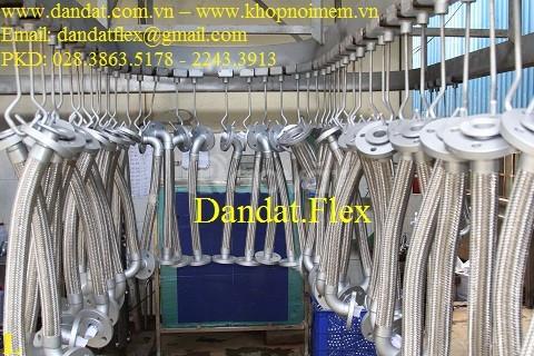 Khớp nối mềm chống rung cho bơm CN, Khớp nối mềm inox kim loại