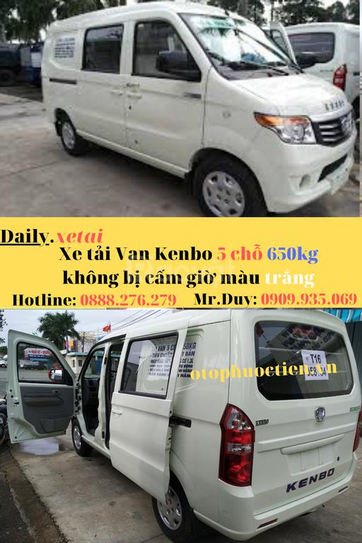 Xe tải van Kenbo không bị cấm giờ năm 2020
