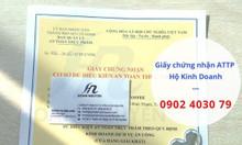 Đăng ký giấy chứng nhận an toàn thực phẩm cho hộ kinh doanh
