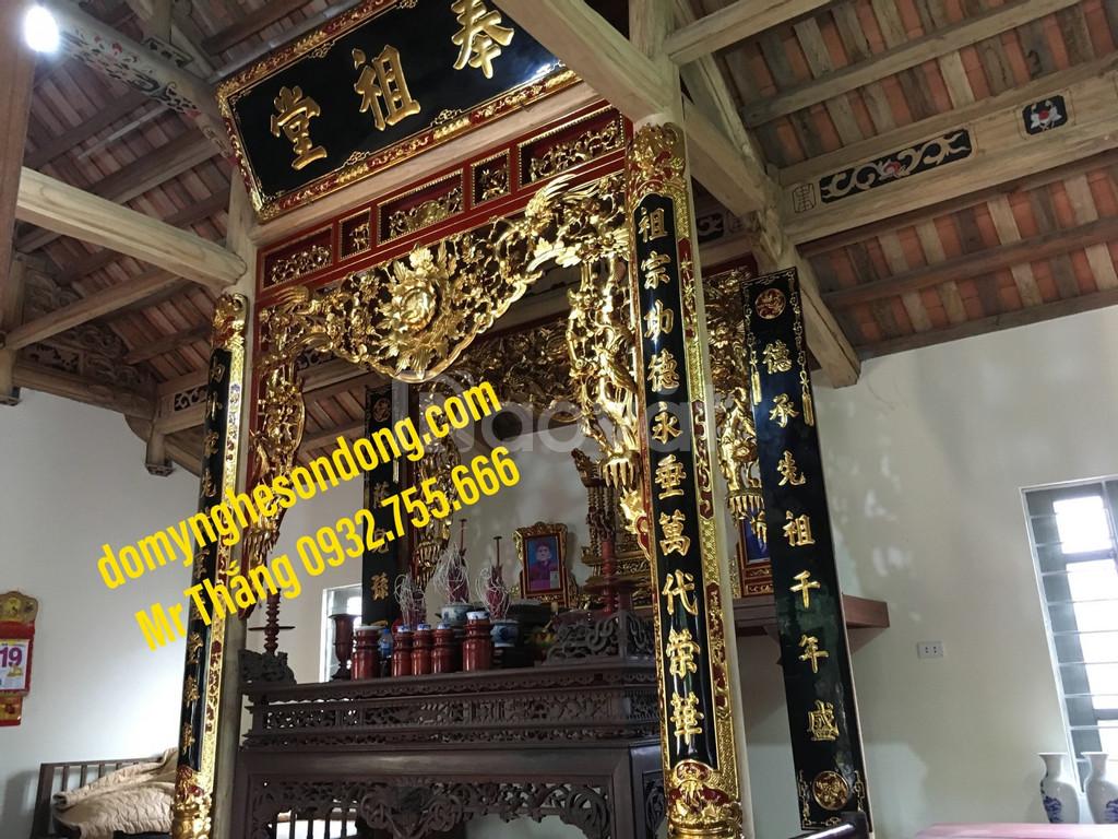 Mẫu hoành phi câu đối thờ bằng gỗ đẹp cho gia tiên, nhà thờ họ (ảnh 3)