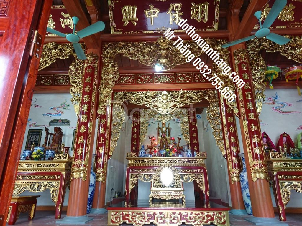 Mẫu hoành phi câu đối thờ bằng gỗ đẹp cho gia tiên, nhà thờ họ (ảnh 2)