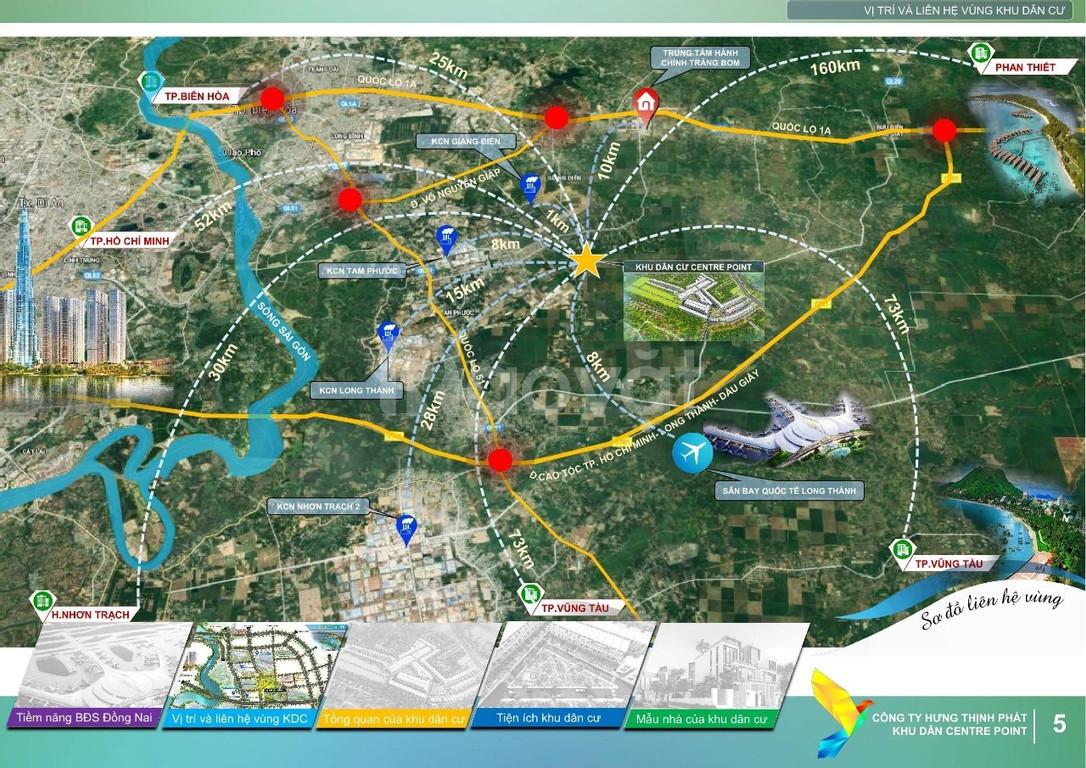 Mở bán đất nền giá rẻ Centre Point, An Viễn, Trảng Bom, Đồng Nai