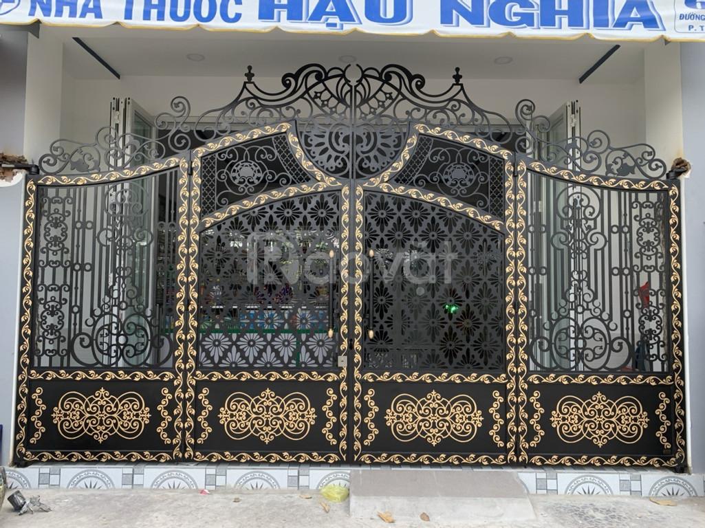 Cửa, cổng biệt thự, nhà phố đẹp cắt CNC nghệ thuật, sơn tĩnh điện (ảnh 6)