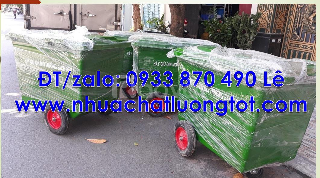 Xe thu gom rác 1000L giá rẻ, xe thu gom rác 660L huyện Củ Chi