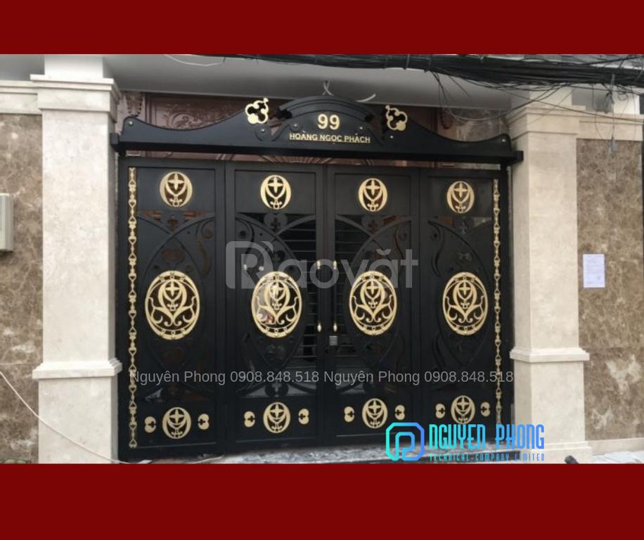 Cửa, cổng biệt thự, nhà phố đẹp cắt CNC nghệ thuật, sơn tĩnh điện (ảnh 7)