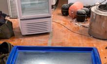 Tủ đông kiếng lùa 170L máy êm, mới 89%