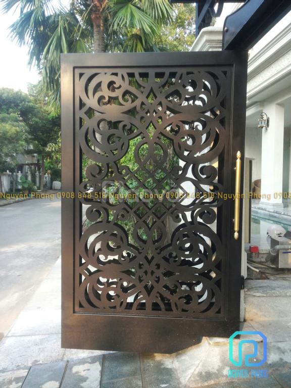 Cửa, cổng biệt thự, nhà phố đẹp cắt CNC nghệ thuật, sơn tĩnh điện (ảnh 8)