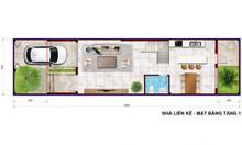 Nhà xây sẵn 1 trệt 2 lầu 1 áp mái đường Nguyễn Duy Trinh Q9