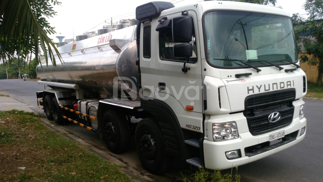 Xe bồn Hyundai HD320 24 khối chở xăng dầu nhập khẩu nguyên chiếc