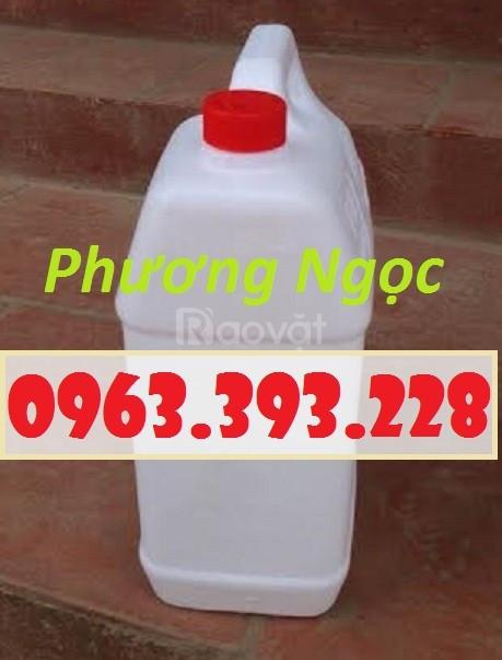 Can nhựa 5 Lít đựng hóa chất, can 5L nhựa HDPE
