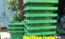 Thùng rác nhựa 120L; thùng rác 120 lít HDPE 2 bánh xe