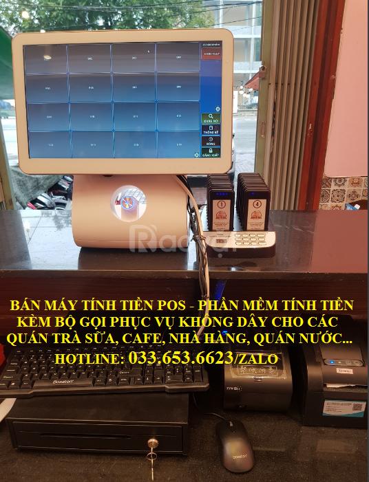 Trọn bộ máy tính tiền cho trà sữa, chè, cafe tại TpHCM