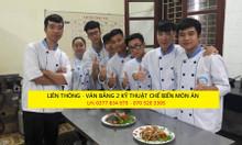 Đào tạo nấu ăn các hệ trung cấp, cao đẳng, liên thông, vb2