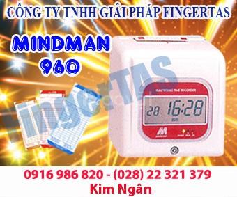 Máy chấm công thẻ giấy M960A/M960 tặng kèm thẻ kệ giá cạnh tranh