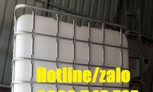 Thanh lý tank nhựa 1000L cũ; tank ibc cũ 1000l; thùng nhựa có khung t