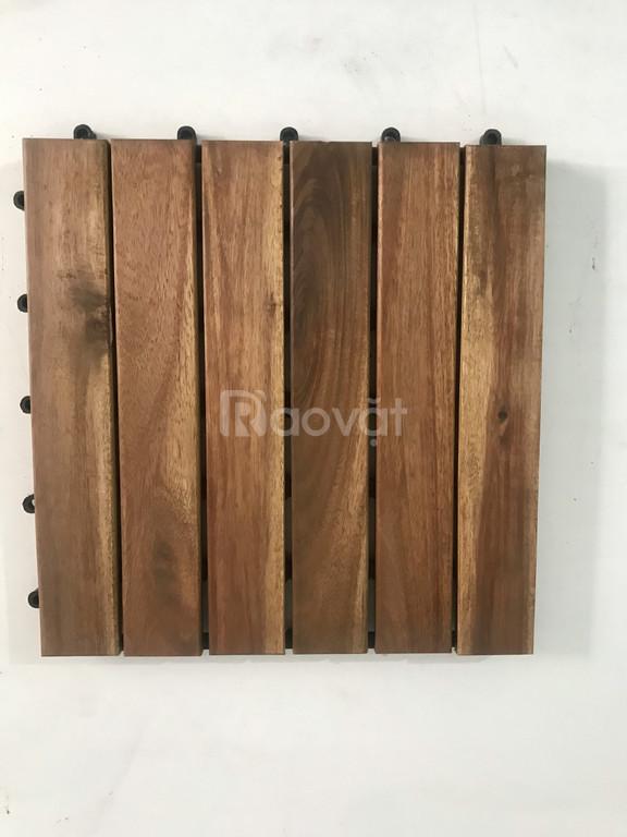 Sàn gỗ vỉ nhựa lót sàn, ban công, sân vườn ( 9 tấm)