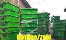 Thùng rác nhựa 660L HDPE; thùng rác 660 lít HDPE 4 bánh xe