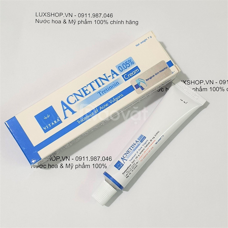 Kem trị mụn Vitara Acnetin A Tretinoin Cream 0.05% 7g chính hãng