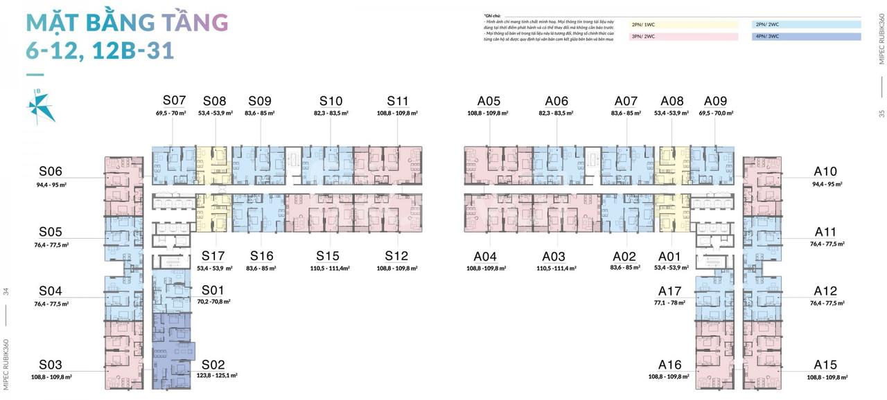 Mipec Rubik 360 - Căn 3PN đầu tư tốt tại dự án