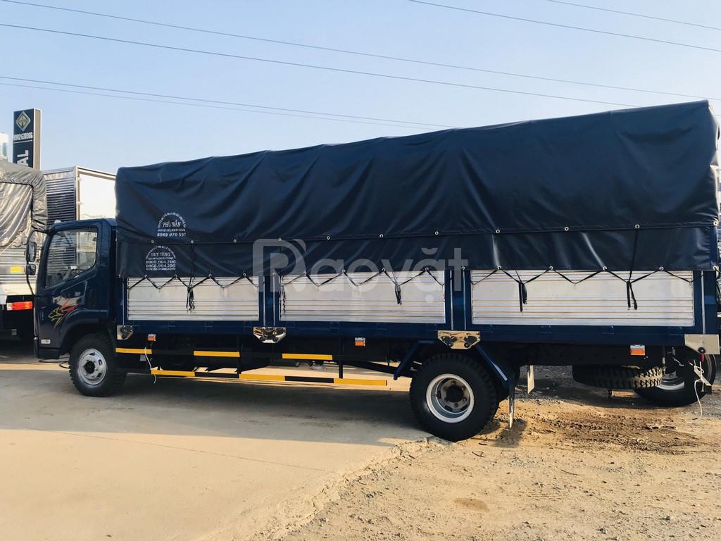 Xe tải faw 7.3 tấn thùng mui bạt 6.3 mét máy hyundai