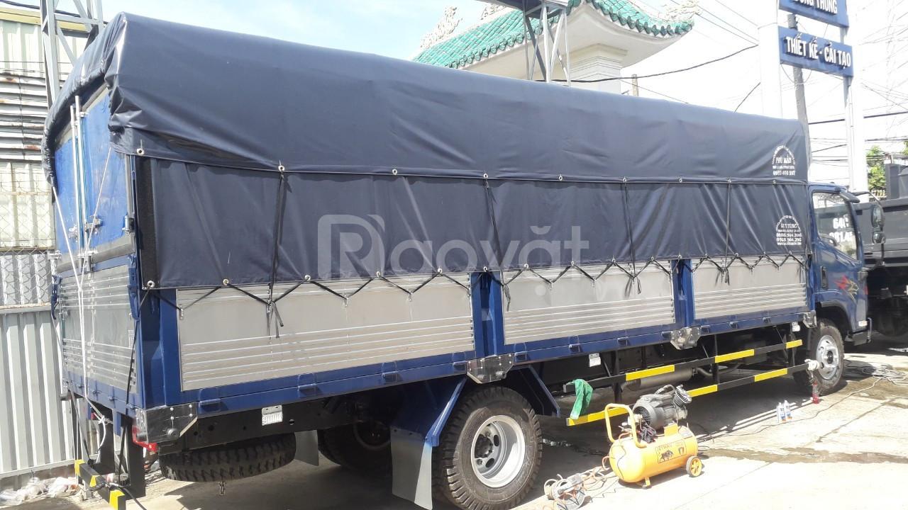 Xe tải 8 tấn faw dộng cơ hyundai D4DB ga cơ thùng bạt dài 6.2 mét 2017
