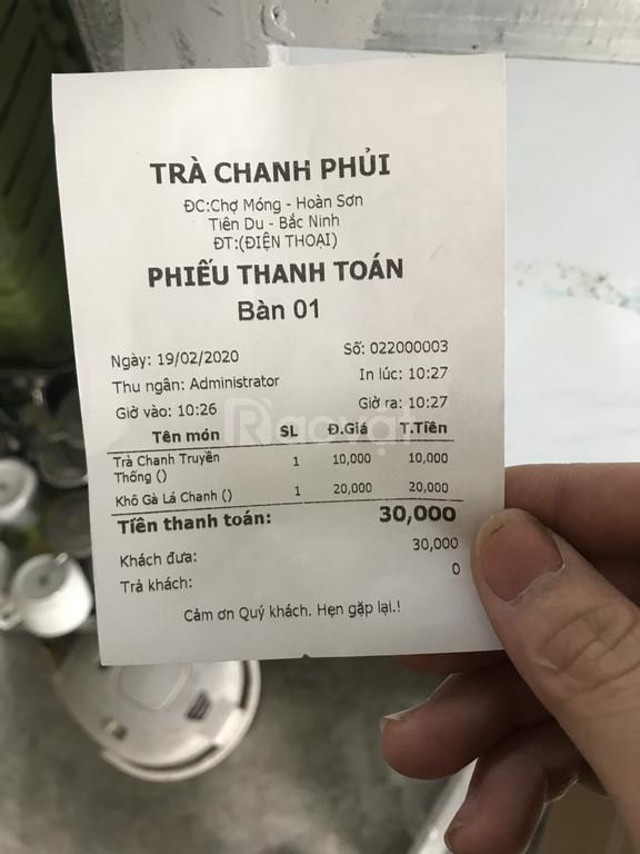 Máy tính tiền cảm ứng cho quán trà chanh tại Bắc Ninh